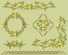 Set Of Floral Design Elements. Royalty Free Stock Photography