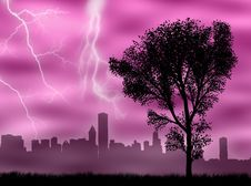 Free City In The Storm Stock Photos - 8480843