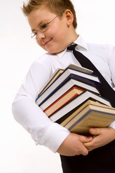 Free Funny Boy With Books Stock Photos - 8480853