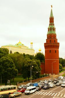 The Kremlin As The Center Of Moscow Stock Image
