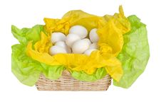 Free Basket And Eggs Royalty Free Stock Photo - 8480985