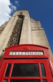 Free Red English Telephone Box Royalty Free Stock Images - 8481429