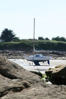 Free Boat On The Shore Royalty Free Stock Image - 8481486