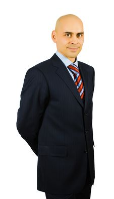 Portrait Of Smiling Businessman Royalty Free Stock Photography