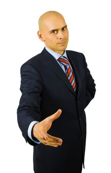 Free Businessman Ready To Handshake Royalty Free Stock Photography - 8481597