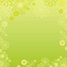 Free Floral Retro Frame Royalty Free Stock Photo - 8481765