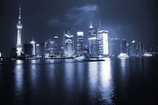 Free Night View Of Shanghai Stock Photo - 8481780