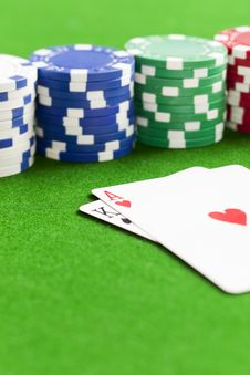 Free Playing Poker Royalty Free Stock Photo - 8481795