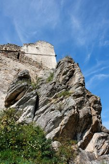Ruins Of An Ancient Castle On The Rock Royalty Free Stock Photography