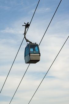 Free Cable Car Against Lightly Clouded Sky Stock Photos - 8482163
