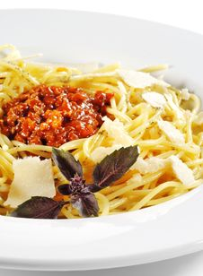 Free Spaghetti With Bolognese Sauce Stock Images - 8482264