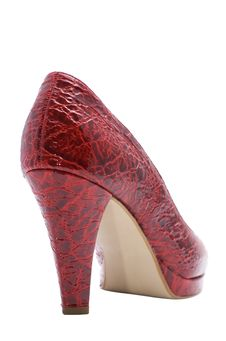 Free Red Woman Shoe With Tall Heel Stock Image - 8482601