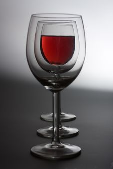 Free Three Wine Glasses Royalty Free Stock Photography - 8482647