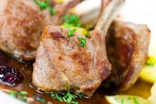 Free Close Up Picture Of A Roasted Lamb Chop-fillet- A Royalty Free Stock Images - 8482919