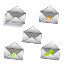 Free Message Icons Stock Photography - 8482942
