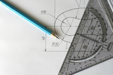 Free Hand Made Blueprints Royalty Free Stock Photography - 8483287
