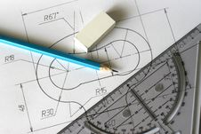 Free Detailed Blueprints Stock Photography - 8483302