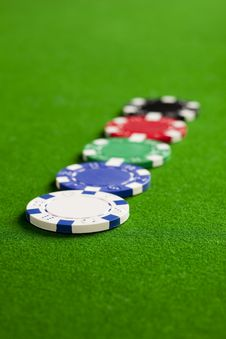 Free Casino Chips Royalty Free Stock Photos - 8483428