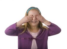 Free Girl Covering Eyes Royalty Free Stock Image - 8483546