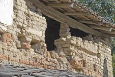 Free Old Adobe Brick Wall In Mexico Royalty Free Stock Photo - 8484165