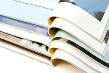 Free Open Magazines Isolated On White Background Stock Image - 8484381