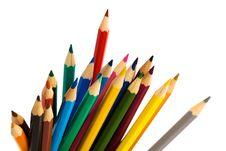 Free Color Pencils Royalty Free Stock Photo - 8484445