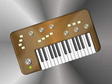 Vintage Retro Copper Keyboard Stock Photography