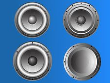 Free 4 Loudspeakers 3 Stock Photo - 8484840