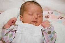 Free Sleeping Infant Girl Royalty Free Stock Photography - 8484887