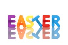 Easter Word Made With Plastic Letters Royalty Free Stock Photos