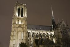 Notre Dame At Night Stock Image