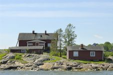 Houses By The Shore Stock Photography