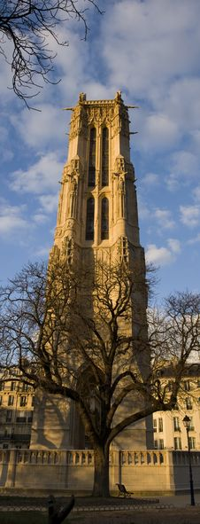 Saint-Jacques Tower In Paris Royalty Free Stock Photography