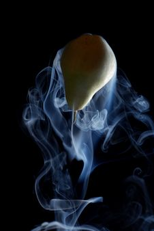 Free Green Pear And Smoke Stock Image - 8485631