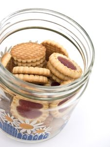 Jar With Biscuits Royalty Free Stock Image