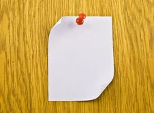 Free Single Blank Note Paper Attached Stock Images - 8485764