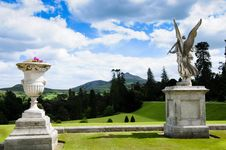 Formal Garden With Statues Stock Image