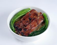 Free Grilled Pork Soup Stock Image - 8485951