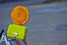 Free Construction Barricade Light Stock Photo - 8486330