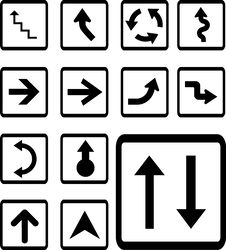 Set Icons - 28B. Arrows Stock Photos
