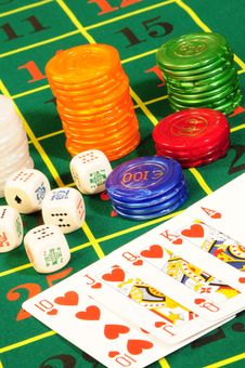 Free Casino Accessories Stock Image - 8487691