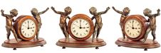 Isolated Old-fashioned Clock Royalty Free Stock Image