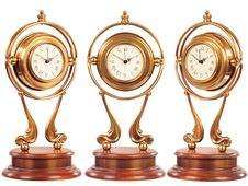 Isolated Old-fashioned Clock Stock Images