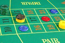 Casino Chips Stock Photo