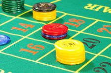 Free Casino Chips Royalty Free Stock Image - 8487876