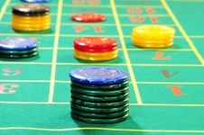 Free Casino Chips Royalty Free Stock Images - 8487889