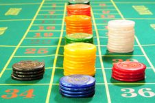 Free Casino Chips Royalty Free Stock Images - 8487979