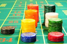 Free Casino Chips Royalty Free Stock Photo - 8487995