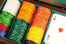 Free Casino Chips And Playing Cards Stock Images - 8488004