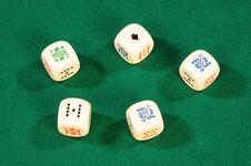 Free Playing Bones Royalty Free Stock Photo - 8488055